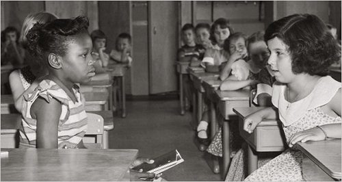 first day of desegregation in fort meyer elementary school september 8 1954